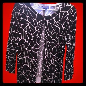 PENDLETON retro animal print giraffe cardigan M
